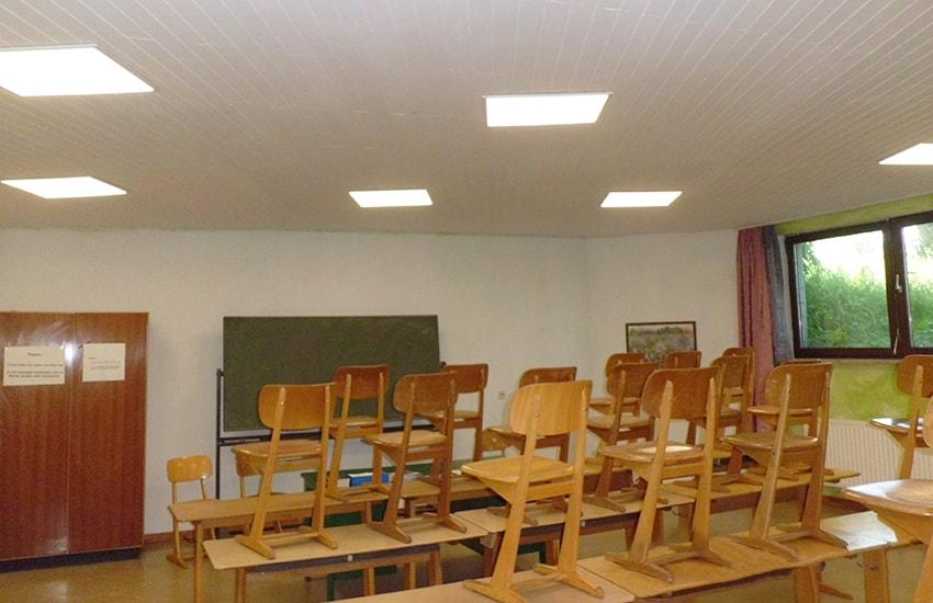 KLAS NETWORKS - Klassenzimmerbeleuchtung mit LED Einlegepanels an der Waldorfschule Esslingen