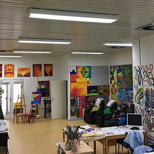 Installation von LED Aufbaupanels im diakonischen Werk in Kassel